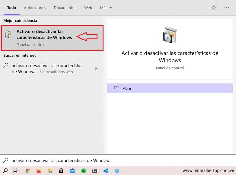 Buscador de Windows 10